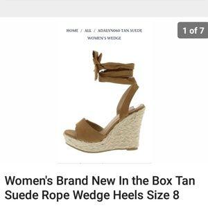 Women's size 8 suede wedge heels